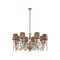Люстра Crystal Lux ALEGRIA SP8 GOLD-BROWN