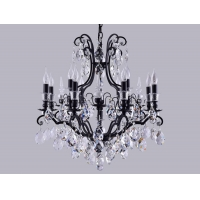 Люстра Crystal Lux MAGNIFICO SP13 BLACK-TRANSPARENT