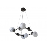 Люстра Crystal Lux SALVADORE SP6H BLACK CHROMIUM