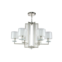 Люстра Crystal Lux NICOLAS SP-PL6 NICKEL/WHITE