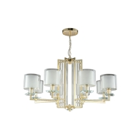 Люстра Crystal Lux NICOLAS SP-PL8 GOLD/WHITE
