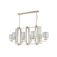 Люстра Crystal Lux NICOLAS SP8 L1000 GOLD/WHITE
