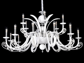 Большая люстра Crystal Lux LETISIA SP12+6 WHITE