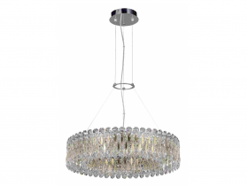 Хрустальная люстра Crystal Lux LIRICA SP10 D610 CHROME/GOLD-TRANSPARENT