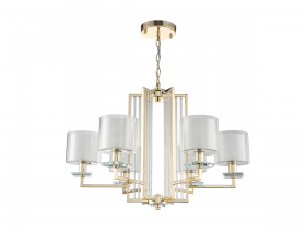 Люстра Crystal Lux NICOLAS SP-PL6 GOLD/WHITE
